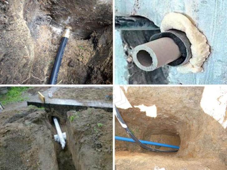Ввод водпровода в дом