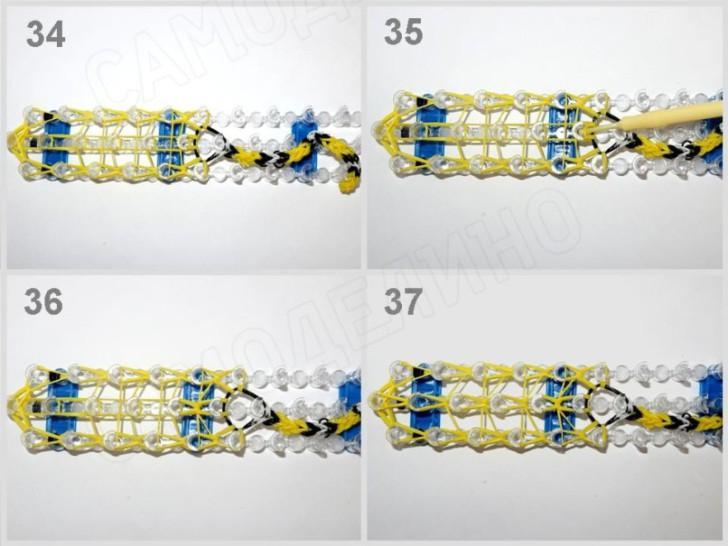 Zmeyka-iz-rezinok-10 Как сплести из резинок фигурку из Майнкрафта, сова, 3д, на ручку. Плетение на рогатке, крючке, станке монстр тейл, вилках. Видео для начинающих