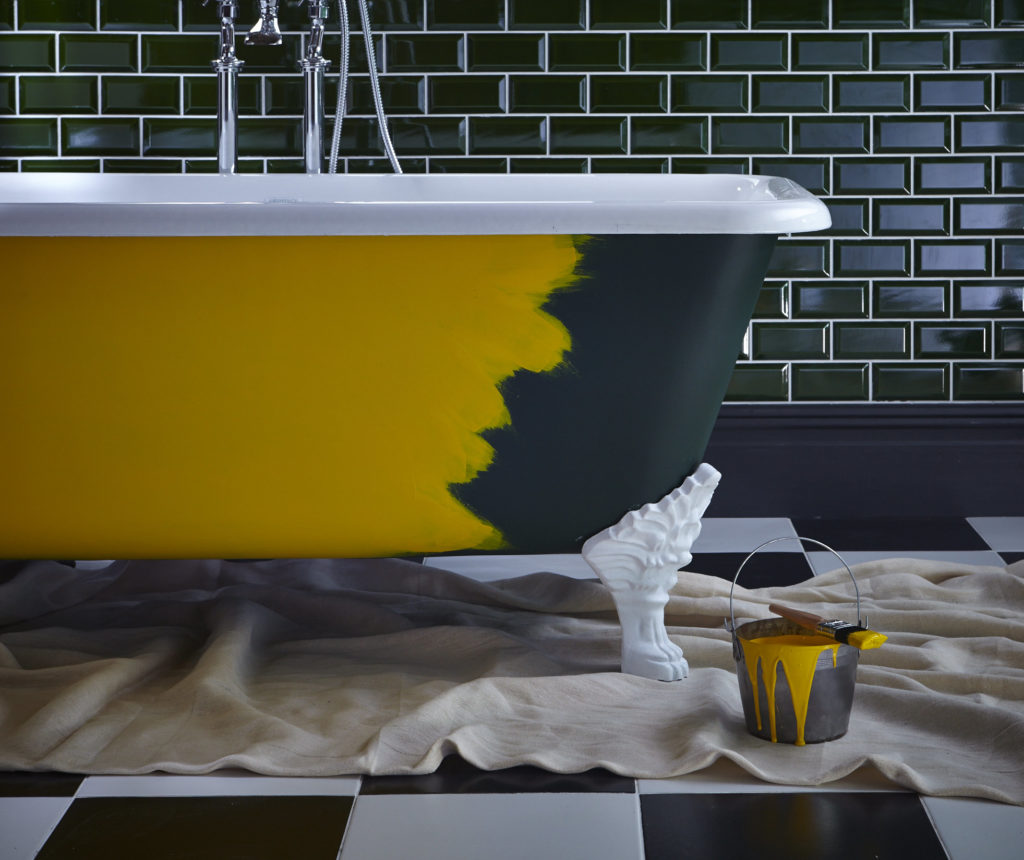 Как покрасить эмалированную ванну