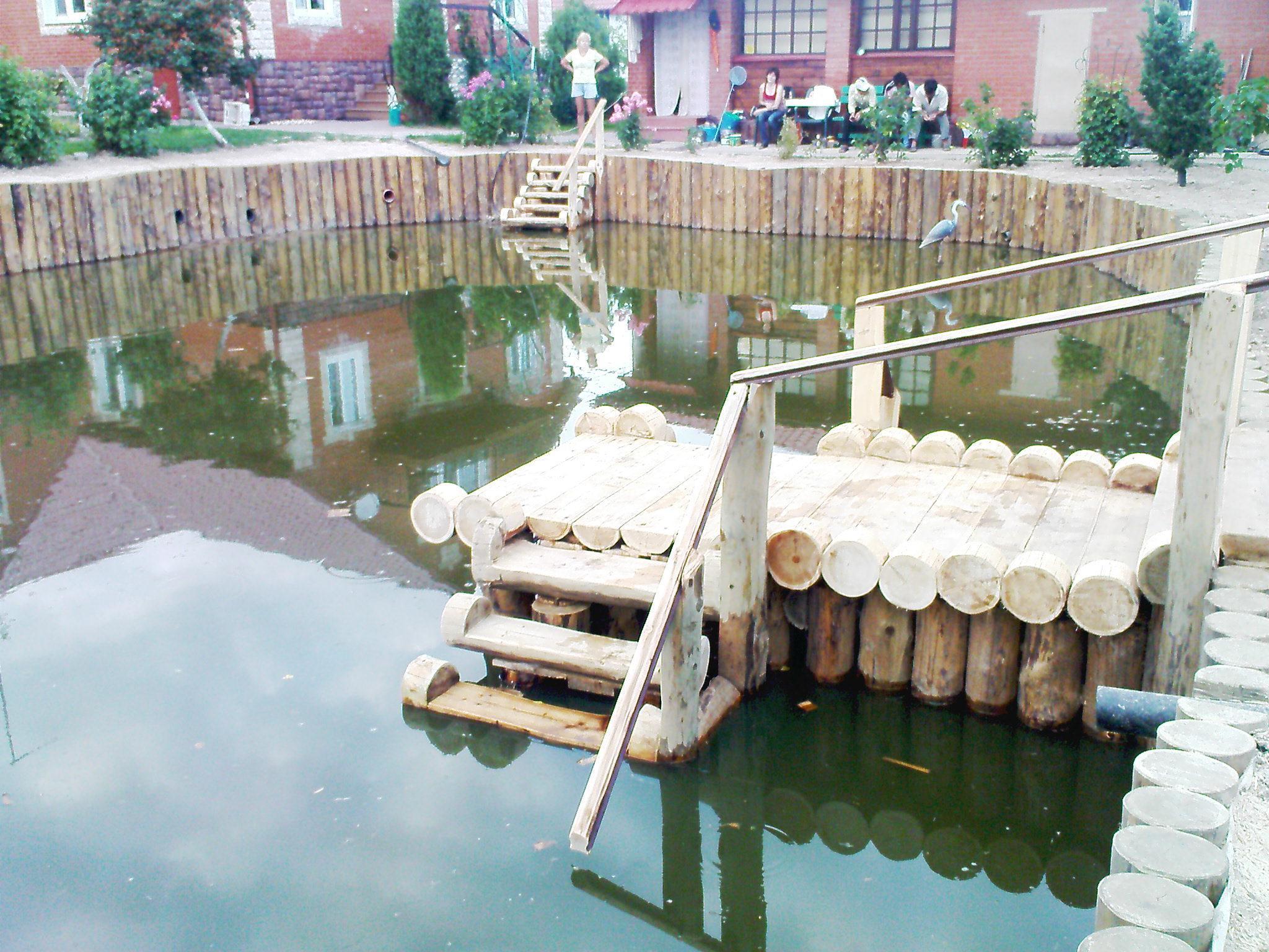 Лестница для пруда