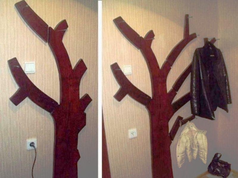Вешалка в прихожую своими руками 🛋 настенная для верхней одежды из дерева